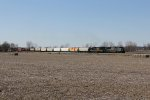 CSX 4849 & 7559 lead Q382 east across the open lands of north central Indiana