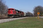 FXE 4045 & CP 9642 races west with empty ethanol train K637