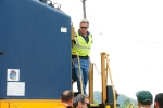 The second CSX man out of the cab.
