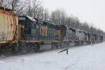 7 Locomotives on CSX Q377