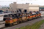BNSF4955, UP5730, BNSF2034, BNSF510, NS2756, NS8968 and others outside the diesel depot