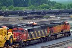 CN5509 and BNSF5372 waiting to leave the yard