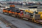 BNSF8232, BNSF1057 and SF627 waiting to leave the yard