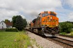 BNSF7906 and BNSF4361 passing Peck Park