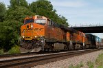 BNSF7829, BNSF7608 and BNSF6531 passing Peck Park