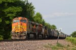 BNSF4102, BNSF7918 and UP4125 waiting for a new crew