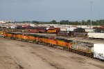BNSF4883, BNSF5503, BNSF5007, BNSF4095, BNSF4668 and CREX1210 waiting to leave the yard
