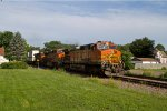 BNSF4877, BNSF7069 and BNSF6825 passing Peck Park