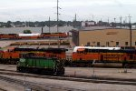 BNSF3600, BNSF7627, BNSF7562, BNSF9130 and BNSF9131 outside the diesel shops