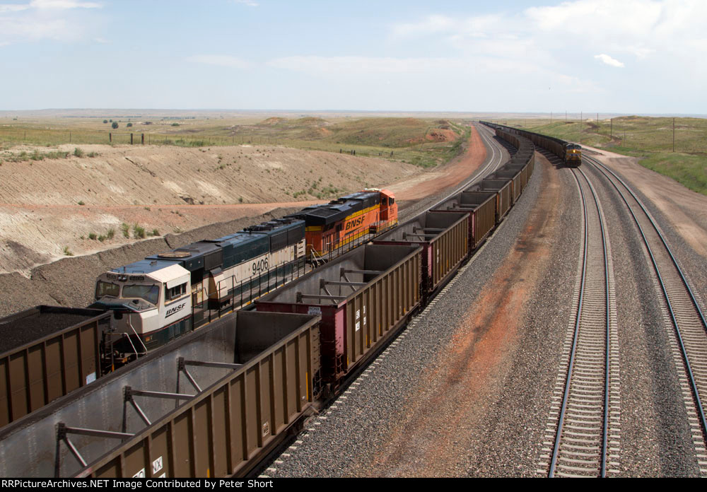 BNSF5926, BNSF9406, BNSF9074 and UP6357