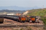 BNSF6923, BNSF8971, BNSF9753 and others in the yard