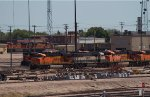 BNSF6065, BNSF9823, BNSF5915, BNSF6150 and others outside the diesel depot