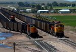 BNSF9843, BNSF9391, BNSF8861 and BNSF8773 waiting in the South Yard