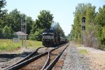 NS 9065 gurgles away in the siding