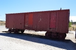 An ancient boxcar at the Pacific Southwest Railway Museum