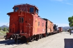 ATSF 999371 at the end of a display train