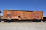 A very faded boxcar