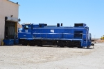 US Gypsum 111 sits outside the shop at Plaster City
