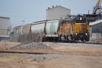 UP 546 and another Geep switch an industry north of El Centro