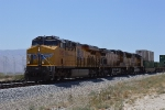 UP 7987 powers a stack train through Palm Springs