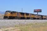 UP 4745 gets its train underway.