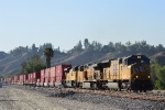 UP 3875 is about to cross Alessandro Road with an eastbound intermodal