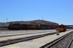 DPU's on the rear of UP stack train moving through Barstow