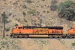BNSF 6948 is incharge of unit coil train ascending Tehachapi