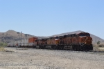 Back at Caliente, a BNSF southbound intermodal is seen waiting its turn to climb Tehachapi