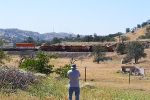 A fellow BSMRM member takes video the northbound intermodal rounding the reverse curve at Keene.