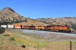 BNSF 6662 leads an intermodal south around the reverse curve at Keene