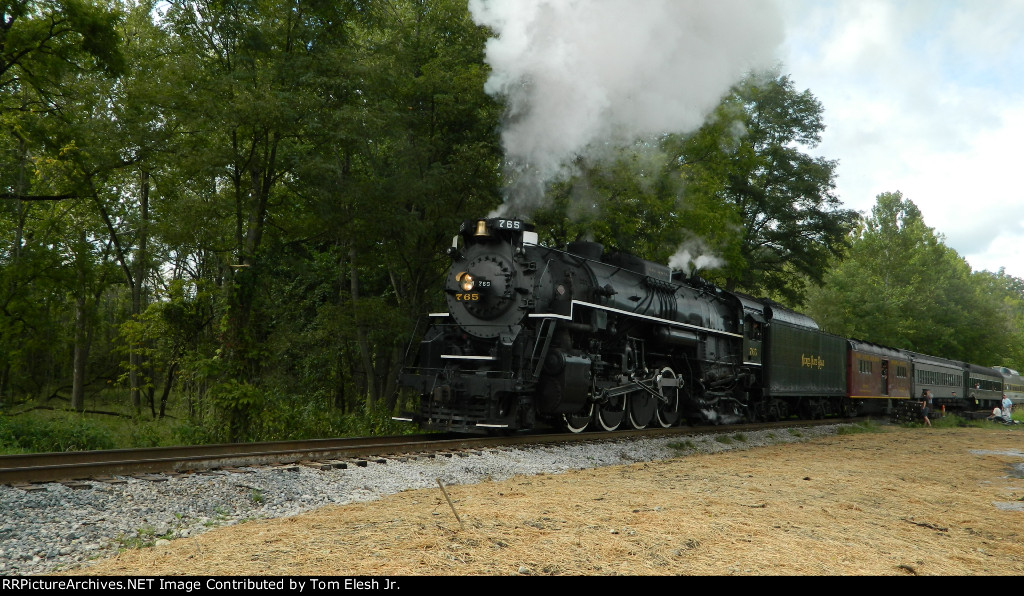 NKP 765 Departing Brecksville Station Ohio