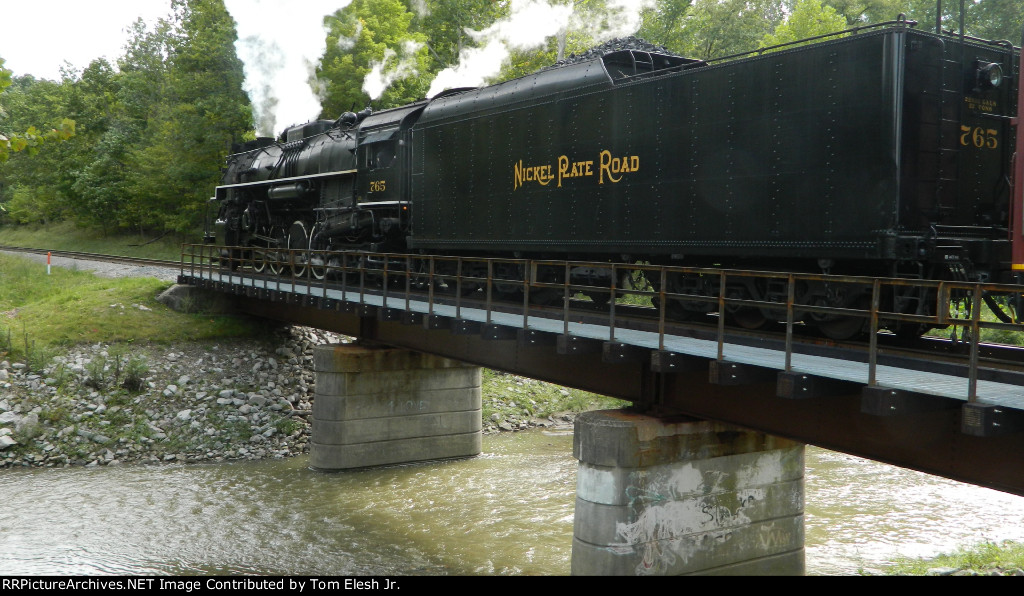 NKP 765 Crossing Bridge Over Chippewa Creek In Brecksville Ohio
