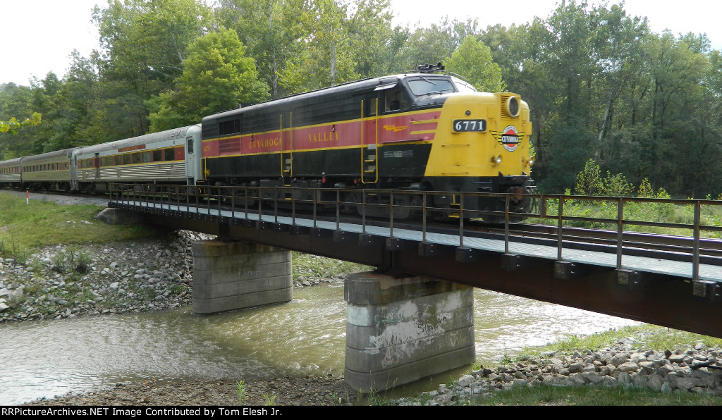 CVSR 6771 On Other End of Passenger Leading NKP 765