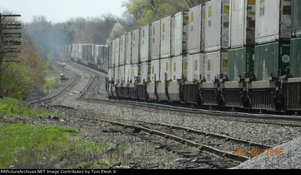 NS Eastbound Intermodal Climbing Upgrade