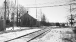 B&W Picture of W&LE Track & Station