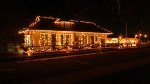 Bedford Falls Station In Bedford Ohio With Christmas Lights