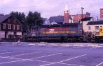 A Family Lines SD40-2 pulling out of West Brunswick