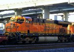 BNSF 7449 in freight under Interstate-80