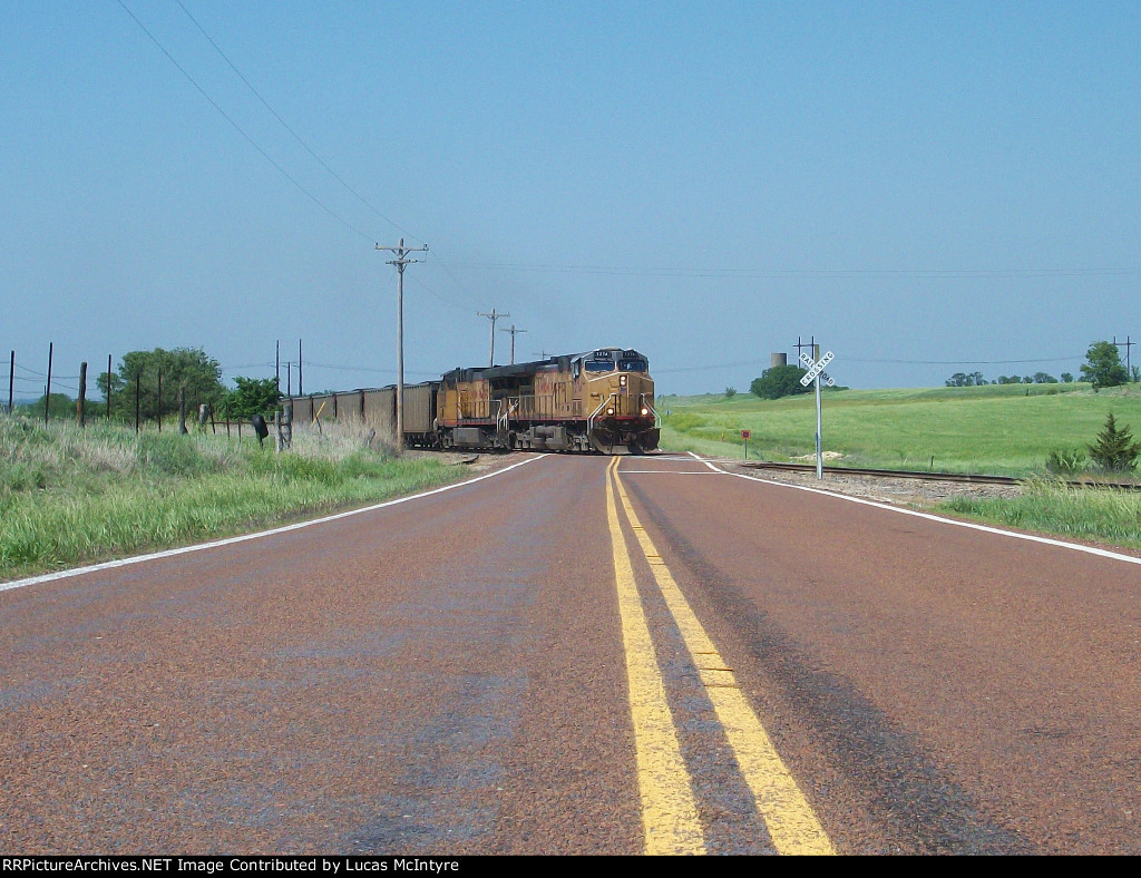UP 7274 eastbound UP loaded coal train