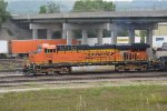 BNSF 7222  leaving   wb out of argentine