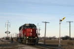 The 4085 passes the new semaphore type signal near XN Tower, Leipsic, Ohio.