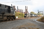 NS 9217 and NS 8672 meet at Sloss Furnace