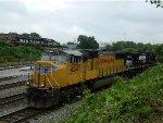 UP 4247 (SD70M)  NS 9018 (C40-9W)  SAN 91 (ROAD SLUG)