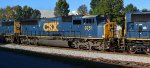 CSX 8751 X-CR 5645 SD60I trails CSX 4587 X-CSX 787 XX-CR 4142 SD70MAC ahead of CSX 2496 X-CSX 8673 XX-CR 6767 SD50 rebuilt to SD50-2 and CSX 8870 X-CR 6963 XX-KCS 605 SD40-2R rebuilt from SD40 hustling a manifest south thru Cartersville Ga 10-07-2015
