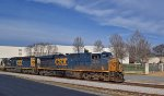 CSXT 5378 ES40DC and CSX 8033 SD40-2 southbound on CSX through Cartersville Ga 3:37PM 01-06-2015