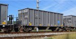 SLIX 45094 X-AOK 45094 04-2013 built FCA 2430 built 3-discharge gate aggregate hopper in limestone service traveling empty back from Plant Bowen Cartersville GA 5:54PM 09-11-2016