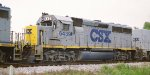 CSX 6439 X-B&O-Chessie 4425 GP40-2 westbound into CSX Gentilly Yard New Orleans LA 03-1995