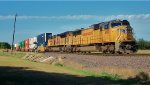 UP 4190 DPU on eastbound UP intermodal train