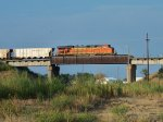 BNSF 6217 DPU on westbound BNSF empty coal train